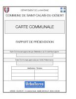 Rapport de Présentation St-Calais-du-Désert