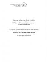 Réponse du Président de la CCMA au rapport de la CRC – 24 juillet 2019