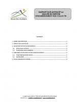 2018 – Rapport annuel sur le prix et la qualité du service d'assainissement non collectif