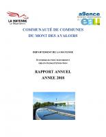 2018 – Rapport annuel : synthèse du fonctionnement des stations d'épuration – CCMA Agence technique départementale de l'eau