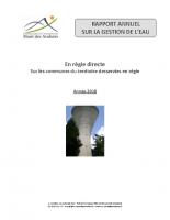 2018 – Rapport annuel sur la gestion de l'eau
