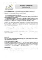 2020-04 Décisions du président du 3 avril 2020 site CCMA