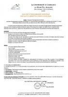 Assistant d'enseignement artistique – spécialité Clarinette / Piano