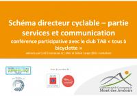 Présentation conférence services vélo – Club TAB CCMA