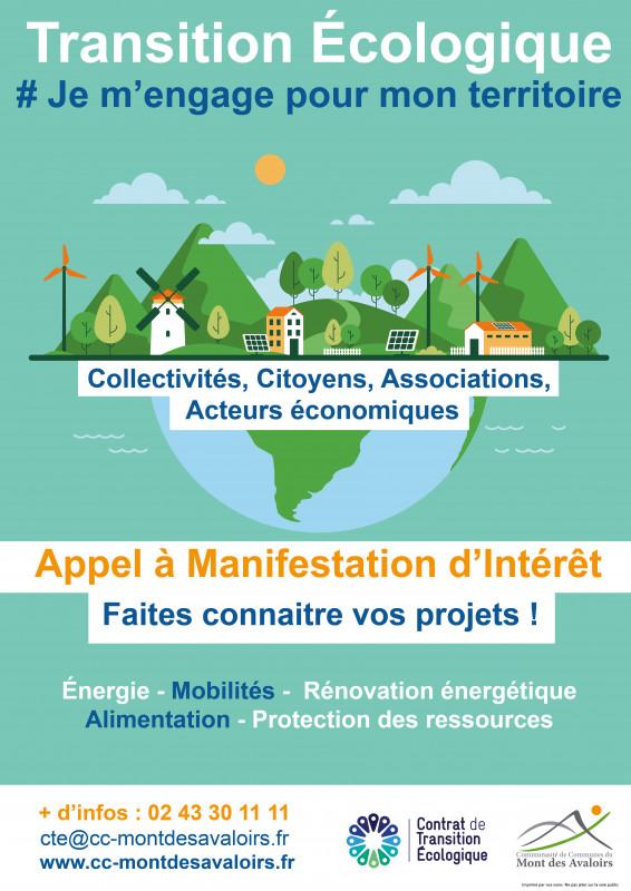 Appel à Manifestation Contrat de Transition Ecologique - Communauté de Communes du Mont des Avaloirs 2020